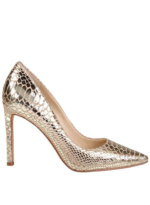 Nine West Süet Stiletto Ayakkabı Altın